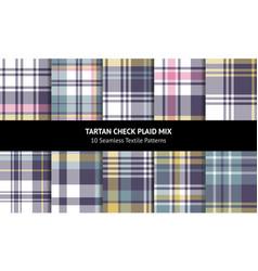 Plaid pattern set multicolored vector