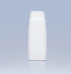 plastic bottle for shampoo vector image