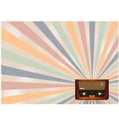 retro radio background vector image