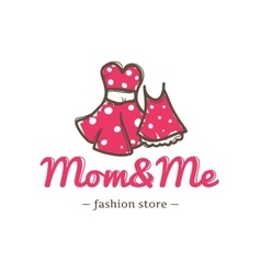 Retro style two dresses for mother vector