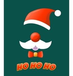 Santa hat moustache and beard vector