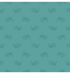 Seamless blue leaf retro pattern vector