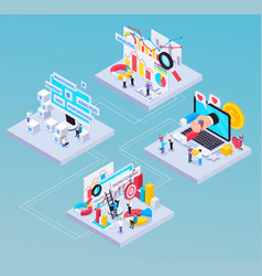Seo isometric composition vector
