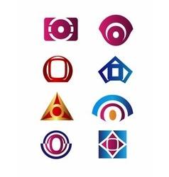 Set of letter O logo Branding Identity Corporate vector image
