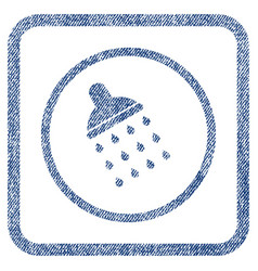 Shower fabric textured icon vector