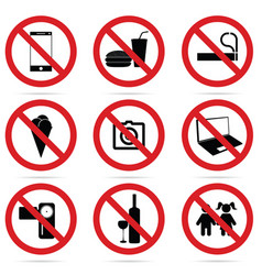 sign of set icon in red color vector image