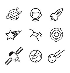 space stuff vector image