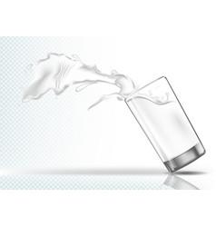 Splash milk from a falling glass vector