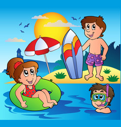 Summer theme image 1 vector