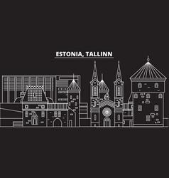 tallinn silhouette skyline estonia - tallinn vector image