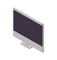 tech screen computer in wide flat vector image