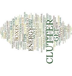 The clutter queen text background word cloud vector