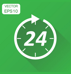 Time icon business concept 24 hours clock vector