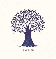Tree yoga vector