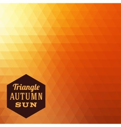 Triangle Autumn Abstract Background vector