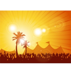 Tropical festival and crowd vector