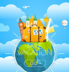 Vacation travelling concept travel with dif vector