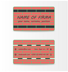 Variety of detailed horizontal business cards on vector