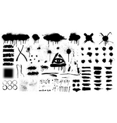 very big collection black paint vector image