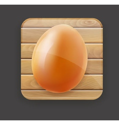 wooden icon and egg vector image