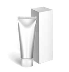 Blank Cosmetics Packages Tube Template vector image