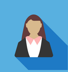 business woman icon business concept vector image
