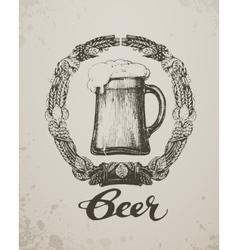 Beer Sketch oktoberfest festival Hand-drawn vector image vector image