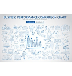 Business Performance Comparison Chart Concept with vector image