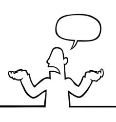 person shrugging vector image vector image