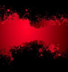 blood banner vector image vector image