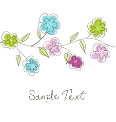 floral greeting card vector image vector image