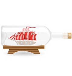 ship in a bottle EPS10 vector image vector image