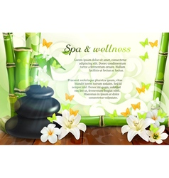 Spa and wellness background vector image vector image