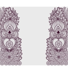 Background with tribal patterns in Indian motifs vector image