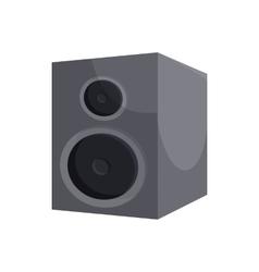 Black sound speaker icon cartoon style vector image