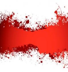 blood banner vector image