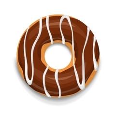 Chocolate donut icon cartoon style vector image vector image
