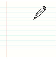 empty paper notebook with pencil vector image
