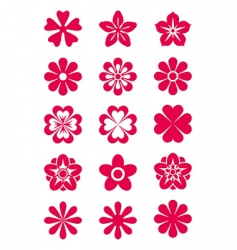 flowers silhouettes vector image vector image