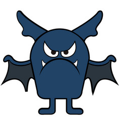 isolated bat icon vector image vector image