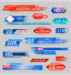 tv news and streaming video banners vector image vector image