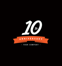 10 years anniversary celebration your company vector