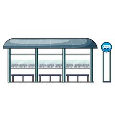 A bus stop vector