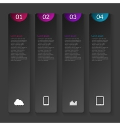 A vertical infographics vector