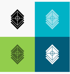 Arrange design layers stack layer icon over vector