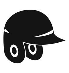 Baseball helmet icon simple style vector