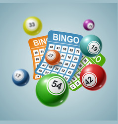 bingo ball and tickets background vector image