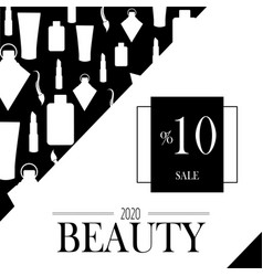 black on white background promotion and discount vector image