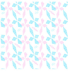 blue and pink rhombs and zigzag vector image