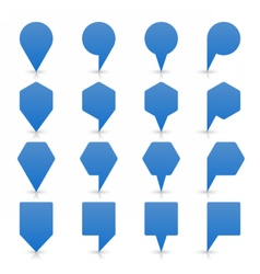 Blue map pin sign flat location icon web button vector image